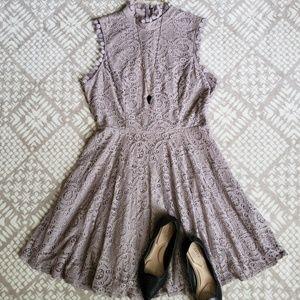 City Triangles | High Neck Crochet Dress